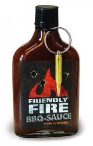 Friendly Fire BBQ Sauce with real bullet