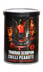 Who Dares Burns! Trinidad Scorpion Chilli Peanuts w puszce